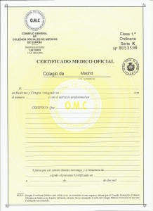 certificado ordinario